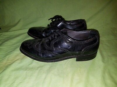 Hanover Masterflex Black Leather Wingtip Oxfords Mens Size 8 EEE/E Used Shoes