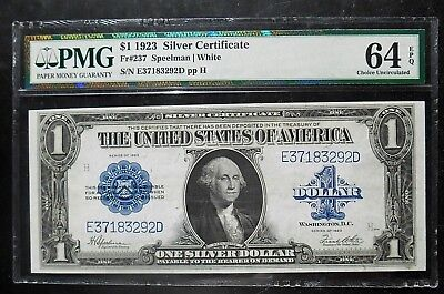 1923 $1 Silver Certificate Fr#237  PMG Choice UNC with Exceptional Paper Quality