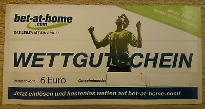 ◘ bet-at-home.com - Wettgutschein 6€ ◘