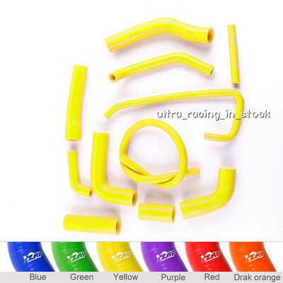 Yellow For Yamaha Yzf 600 R6 2006-2018 Silicone Radiator Coolant Hoses Pipes