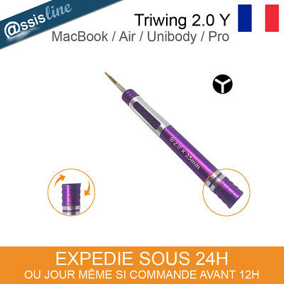 Outil Tournevis Aimante Triwing 2.0Mm Y0 Macbook / Air / Unibody / Pro