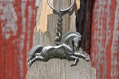 Hastings Pewter Lead Free Pewter Horse Keychain Gift key chain metal - NEW