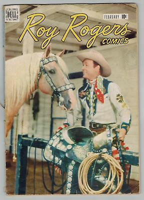 """Roy Rogers Comics 2 """"In the Basin Ranch Mystery"""" GOLDEN AGE   (Feb 1948)  GD"""