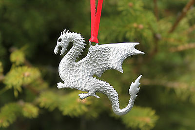 Hand Made Lead Free Pewter Dragon Ornament decoration gift mythical fantasy New