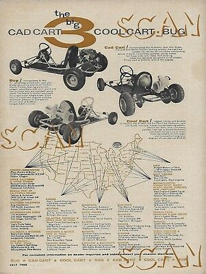 1960 Cad Cool Cart Go-Kart Ad Vintage Magazine Advertisement Bug A-400 A-480 60