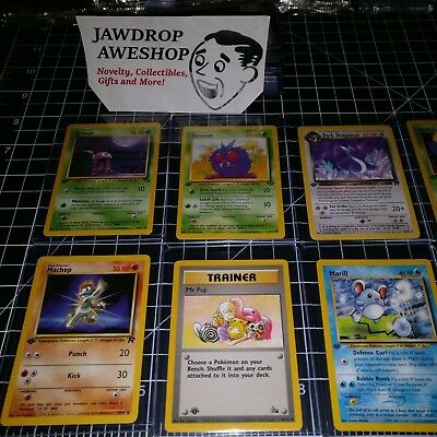 Lot Of 8 Vintage 1St Edition Pokemon Cards Various Old Rare Sets Assorted Tcg Go