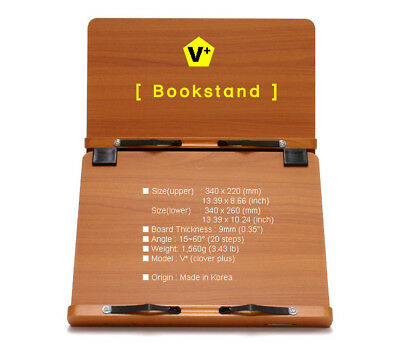 Book Stand Portable Wooden Rest Adjustable Reading Desk Cookbook Holder [V+]