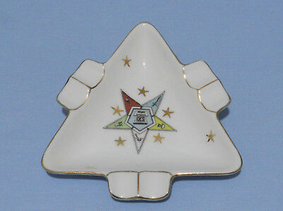 Vintage Masonic ORDER OF THE EASTERN STAR Ashtray Free Mason Lefton China OES