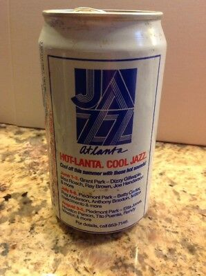 1990 Pepsi PT Alum Soda Can Jazz Atlanta, Hot-Lanta.  Cool.  Jazz