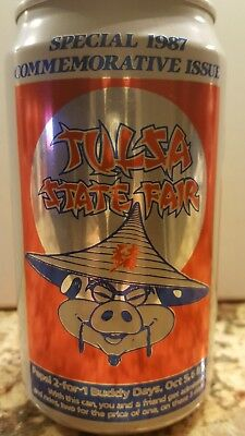 1988 Pepsi PT Alum Soda Can America's Choice Tulsa State Fair Commemorative Issu