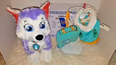 """Build A Bear """"Everest The Husky"""" Paw Patrol w/Sound/Backpack/Costume All NWT"""