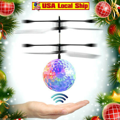 RC Flying Ball Drone Helicopter Built-in Shinning LED Lighting for Kids Toy USA