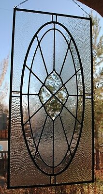 Stained Glass Window Panel Antique beveled Glass Restored