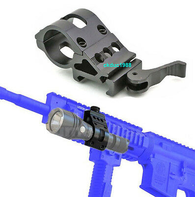 "Quick Release Mount 45 Degree Ring 1""25.4mm Offset Picatinny Rail Rilfe Mount US"