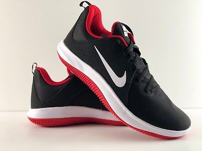 957e650157f5 Nike Fly By Low 908973-006 Black White-Univestity Red Basketball Shoe Size