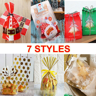 50Pcs Snowflake Sweet Bags Cookie Candy Gift Biscuit Package Bag Wedding Favors