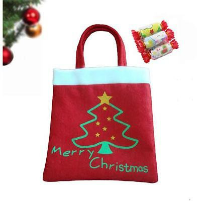 Christmas Gift Bags Plush Felt Fabric Treat Candy Party Favors Santa SW