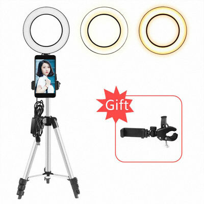 Selfie Portable LED Ring Fill Light Camera Photography For Cell Phone Tripod