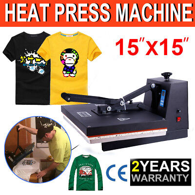 "Fully Digital 15"" X 15""CLAMSHELL HEAT PRESS T-SHIRT TRANSFER SUBLIMATION MACHINE"