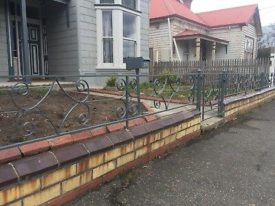 Wrought Iron Fence And Gate Approx. 10m Total Length