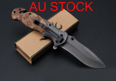 BROWNING Outdoor Camping Hunting  Multifunction Tactical Tool Folding Knife AU