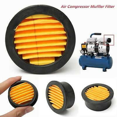 Air Compressor Intake Filter Silencer Metal Housing Replacement Paper Element L