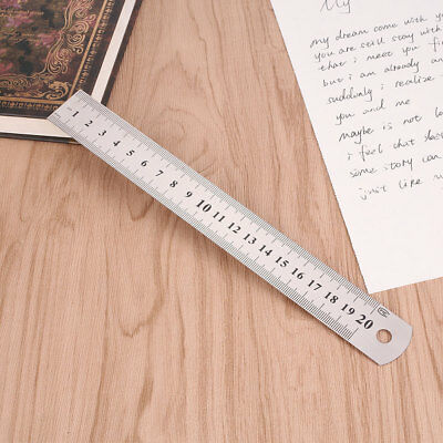 4276 20cm 8 inch Stainless Steel Straight Ruler Precision Double Sided Silver Ne