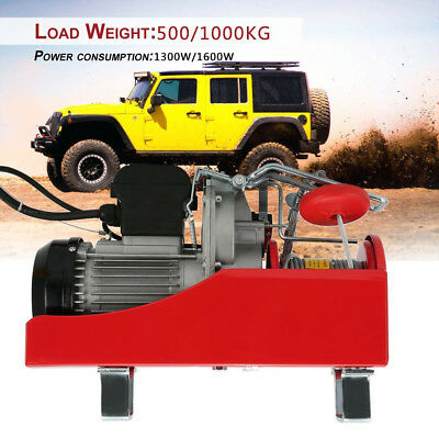 Practical Electric Winch Recovery Cable Pull Winch Load Capacity 500/1000KG