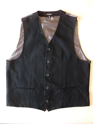 Mens Formal waistcoat Black with grey back Size M Riggings BW1 Christmas