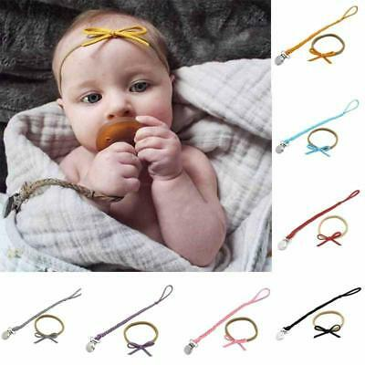 Faux Leather Pacifier Clips Dummy Holder Braided Nipple Holder Soother Chain T