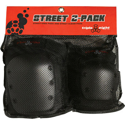 (m) - Triple Eight Street Elbow/Knee 2-Pack Pads Set. Free Delivery