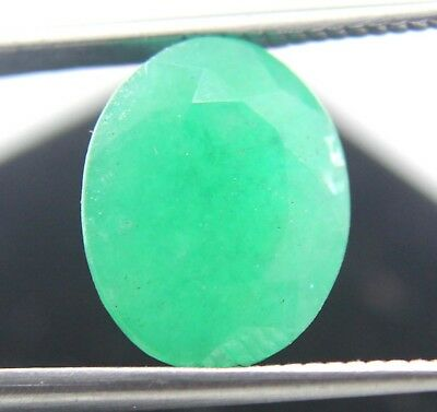 Hurry  GGL Certified 5.70CT Natural Oval Cut Top Quality Green Emerald Gemstone