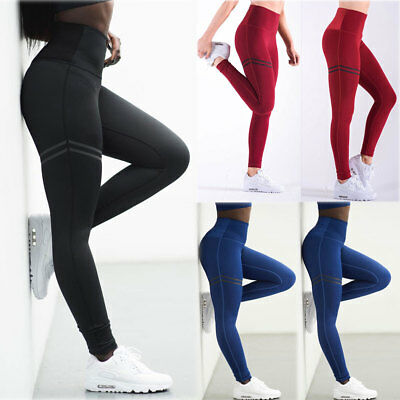 Women High Waist Pencil Stretch Gym YOGA Fitness Leggings Skinny Pants Trousers