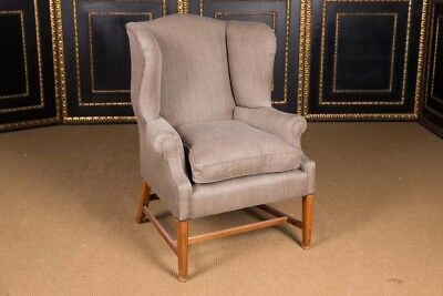 Original English Chesterfield Chair High-Quality Linen Fabric