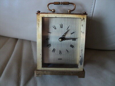 Very Rare Vintage NOVA QUIZ Carriage/ Desk Clock Made in Germany Quartz Working