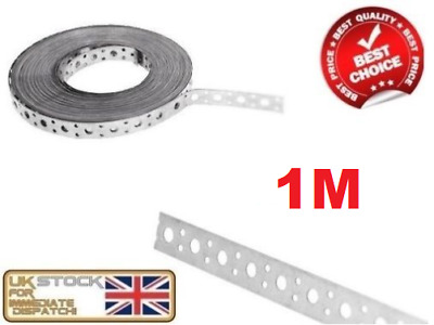 ENGINEERS FIXING BAND STEEL METAL PUNCHED PERFORATED STRIP STRAP 1m x 20 x 1mm