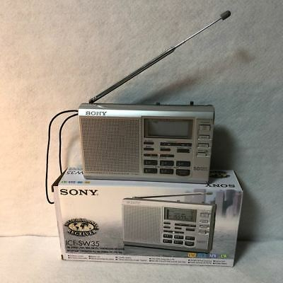 Used SONY Portable Radio ICF-SW35 FM / LW / MW / SW World Band Receiver Japan
