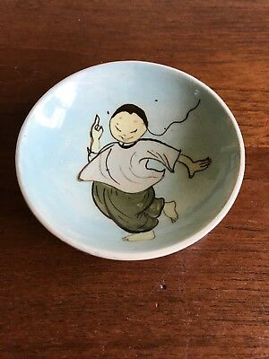 Vintage Martin Boyd Signed Small Dish Hand Painted Chinese Figure
