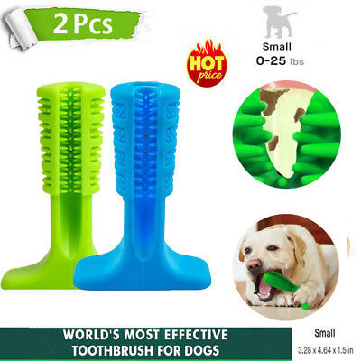 2Pack Dog Toothbrush Pet Brushing Stick Teeth Cleaning Chew Toy For Pet Oralcare