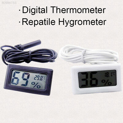 F3B4 High Quality White LCD Digital Thermometer Hygrometer Probe Meter for Incub