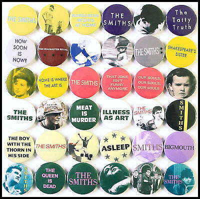 The Smiths 1985-1986 Badge Set - 36 Quality Button Badges (Morrissey)