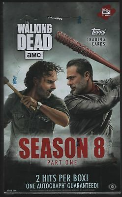 2018 Topps The Walking Dead PART 1 Season 8  Factory Sealed Hobby Box
