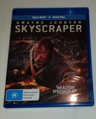 Skyscraper with Digital Download Blu-ray Region B Brand New & Sealed