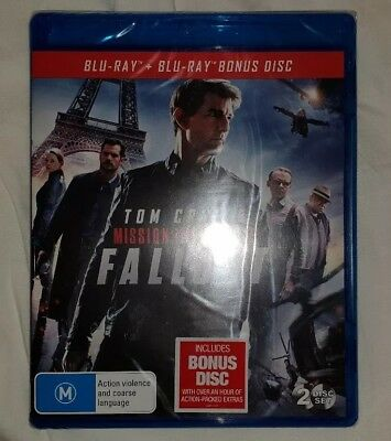 Mission: Impossible - Fallout (Blu-ray/Bonus Disc) Brand New & Sealed Rated M