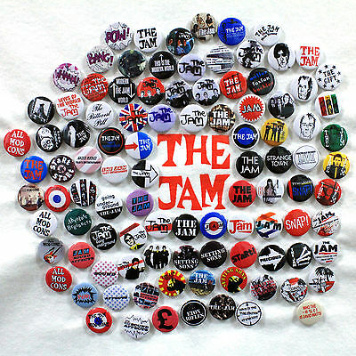 The Jam Badge Collection - 100 Quality Button Badges (Paul Weller Mod Punk)