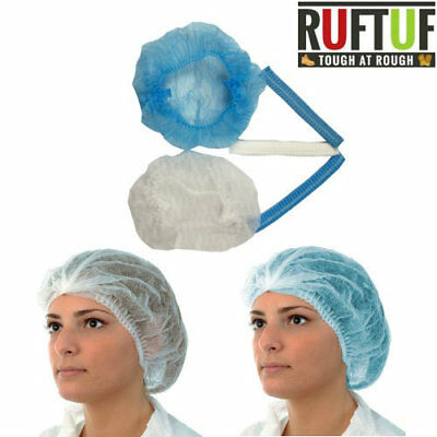 White Disposable Mob Caps - Clip Caps - Hair Nets - Various Quantities & Deals