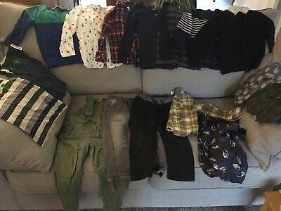 Boys Clothes Bundle, 2-3y, 3-4y, 16 items, includes Christmas shirts