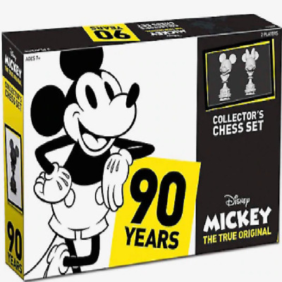 Disney Mickey Mouse 90Th Anniversary Chess Set