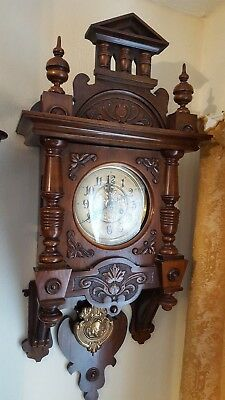 antique black forest wall clock collection only see listing for limited delivery