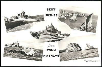 Postcard - Multi Views From John O' Groats Scotland Posted 1963 Stamped